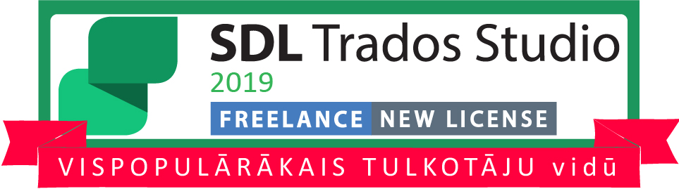 SDL Trados Studio 2019 Freelance 1 datoram vispopularakais tulkkotaju vidu